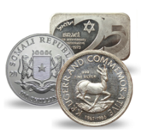 Silver Coins from Various Middle East Countries