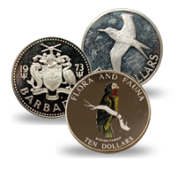 Silver Coins from Various Caribbean Countries