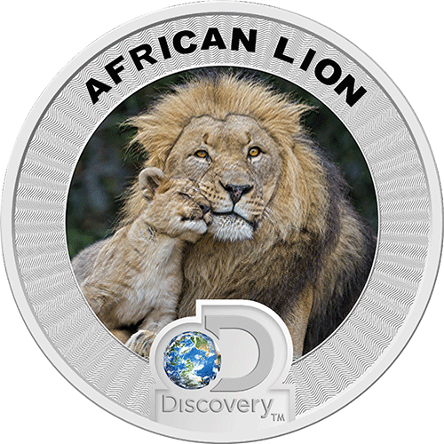 Discovery Africa Silver Coin Lion