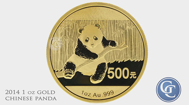 2014 1 oz Gold Chinese Panda