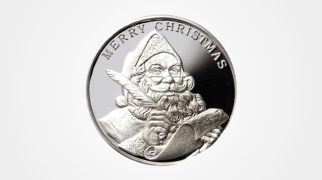 2015 Season's Greetings 1 oz Silver Round