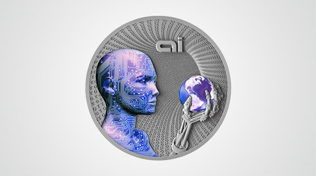 Artificial Intelligence 2 Oz Silver Coin Product Video
