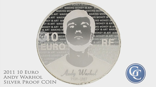2011 10 Euro Silver Proof Series of French Painters Andy Warhol