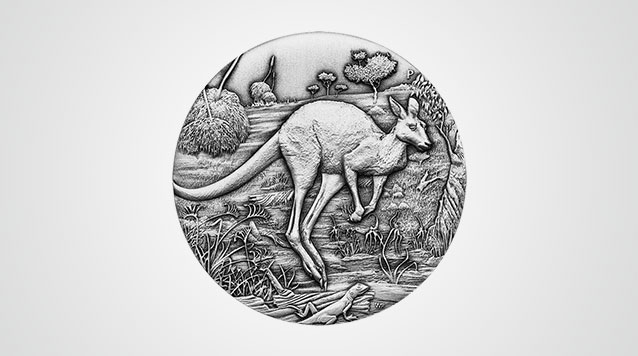 2016 2 oz Antiqued Silver Kangaroo Product Video