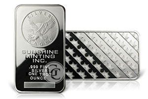 Buying Sunshine Mint Silver Bars
