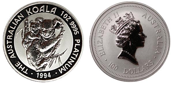 Coin Australian Value Australian Platinum Koala Coin