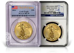 Certified Gold Eagle Coins