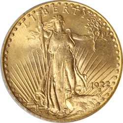 Common Date $20 RAW St. Gaudens