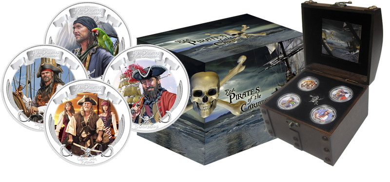 2011 Real Pirates of the Caribbean 4 Coin Proof Set