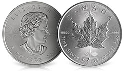 Silver Maple Leafs Obverse