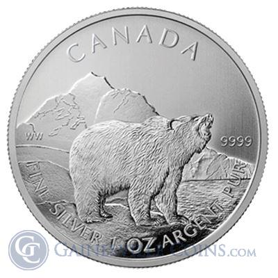 2011 Canadian Grizzly Silver Coin - Wildlife Series