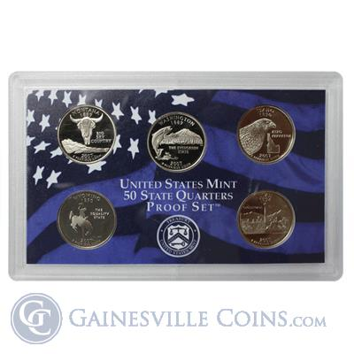 2007-S US Clad Proof State Quarter Set