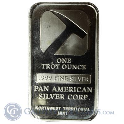 1 oz Pan American Silver Bar (.999 Pure)