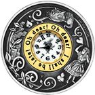 2015 Alice In Wonderland 2 oz Silver Clock Coin - Australia
