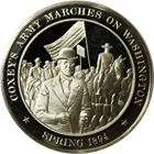 Coxey's Army Marches On Washington Proof Sterling Silver Round (1.14 oz ASW)
