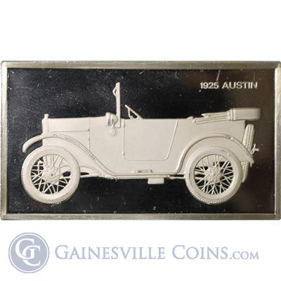 1925 Austin 1000 Grains Classic Cars Sterling Proof Silver (1.90 oz ASW)
