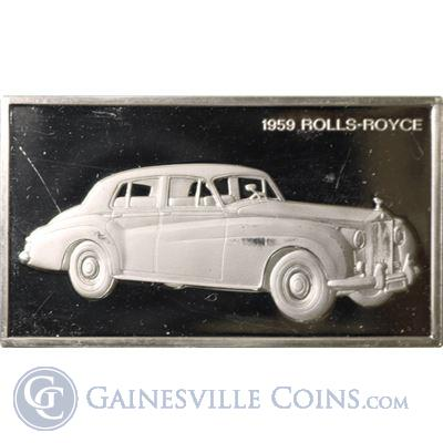 1959 Rolls-Royce 1000 Grains Classic Cars Sterling Proof Silver (1.90 oz ASW)