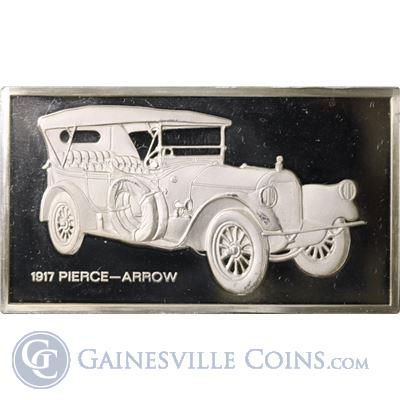 1917 Pierce-Arrow 1000 Grains Classic Cars Sterling Proof Silver (1.90 oz ASW)