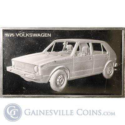 1975 Volkswagon 1000 Grains Classic Cars Sterling Proof Silver (1.90 oz ASW)