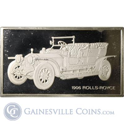 1906 Rolls-Royce 1000 Grains Classic Cars Sterling Proof Silver (1.90 oz ASW)