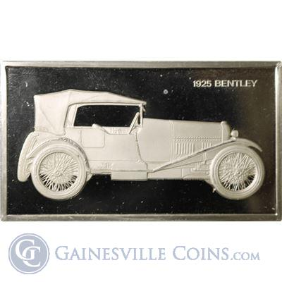 1925 Bentley 1000 Grains Classic Cars Sterling Proof Silver (1.90 oz ASW)