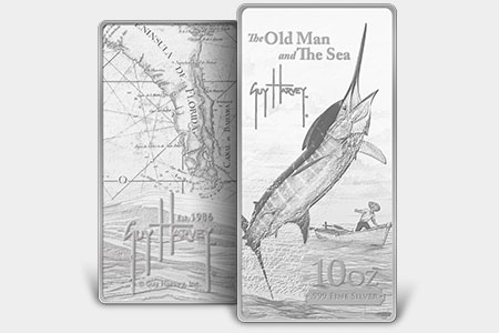Official Guy Harvey Collectible Silver Medals And Bars