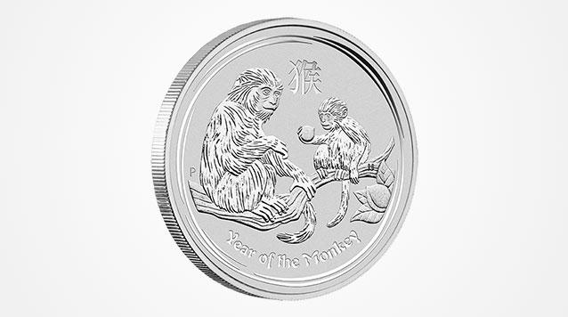 The Perth Mint 2016 1/2 oz Silver Lunar Monkey 360 View