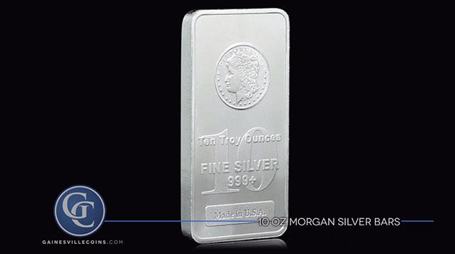 10 oz Morgan Silver Bars