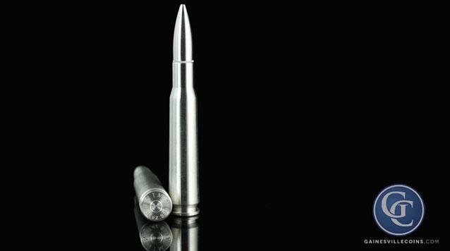 10 oz Silver Bullet, .50 BMG Design