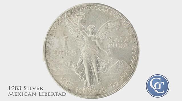 1983 1 oz Silver Mexican Libertad