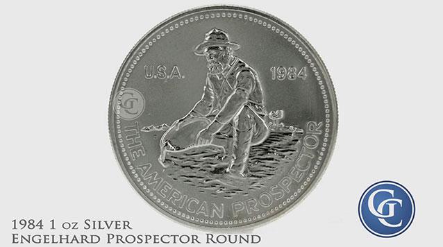 1984 Engelhard Prospector 1 oz Silver Rounds