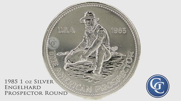 1985 Engelhard Prospector 1 oz Silver Rounds
