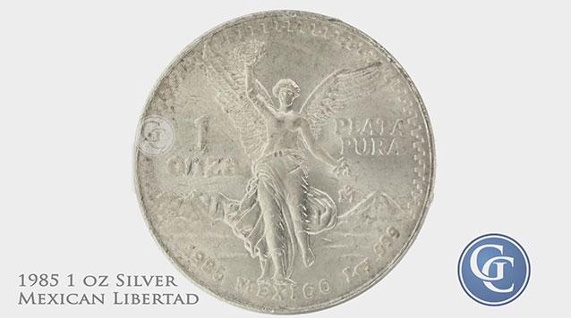 1985 1 oz Silver Mexican Libertad