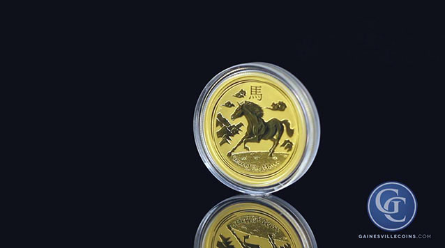 2014 1/10 oz Australian Gold Year of the Horse Coin