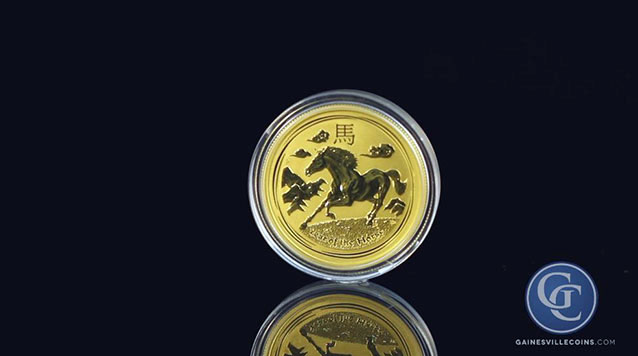2014 1/20 oz Australian Gold Lunar Year of the Horse
