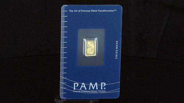 1 gram PAMP Suisse Gold Bar