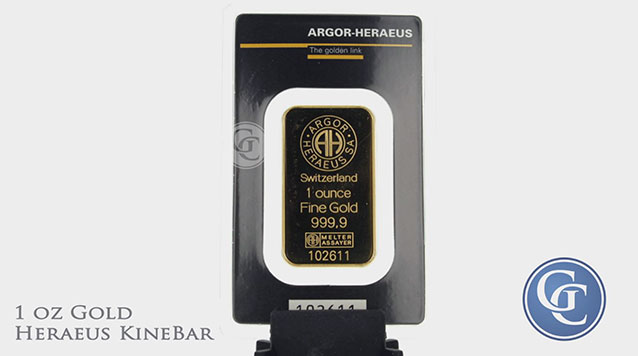 Hereaus 1 oz Gold KineBar