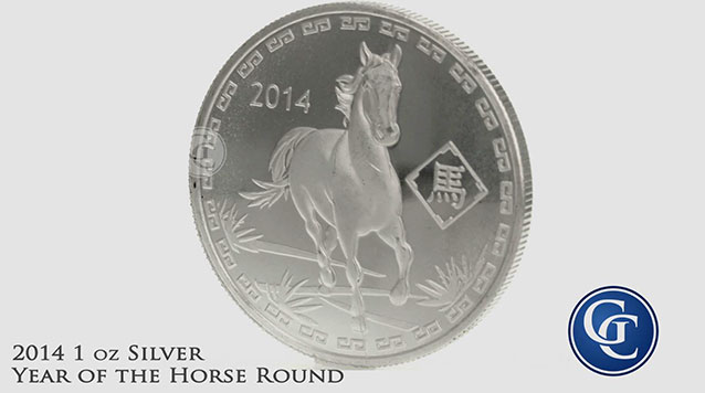 2014 Year of the Horse 1 oz Silver Rounds