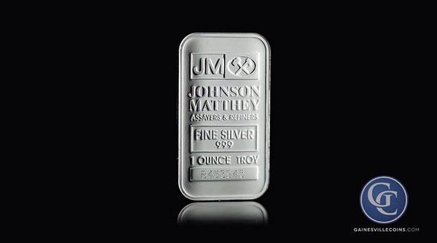 1oz Johnson Matthey Silver Bars