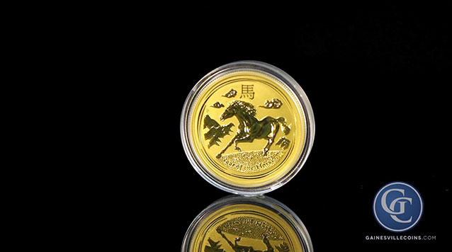 2014 1 oz Australian Gold Lunar Year of the Horse