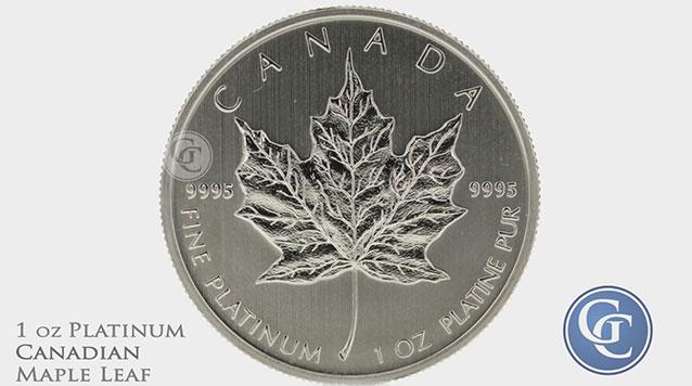 1 Oz Platinum Canadian Maple Leafs
