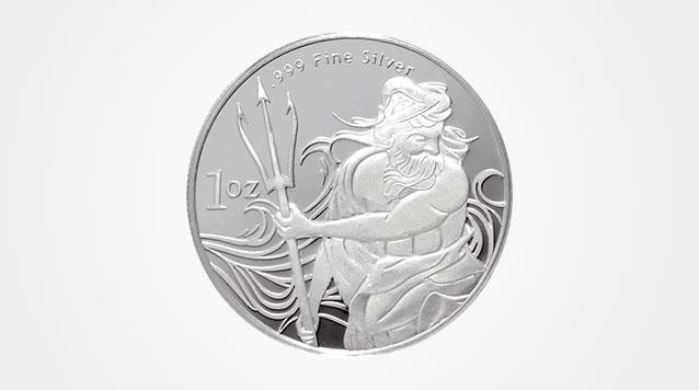 1 oz Trident Silver Round