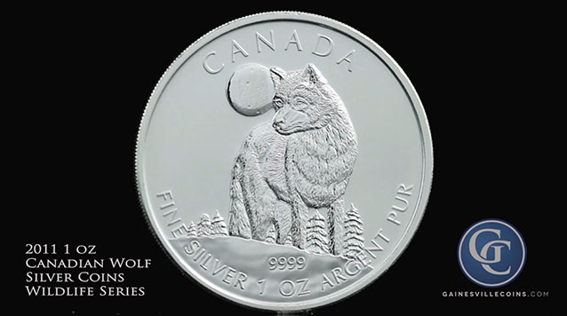 2011 Canadian Wolf Silver 1 oz Coin