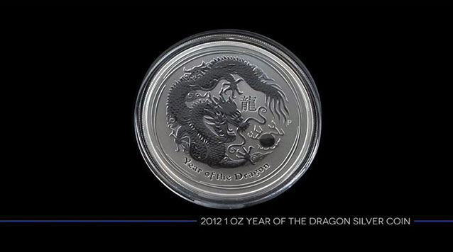 2012 1 Oz Year of the Dragon Silver Coin