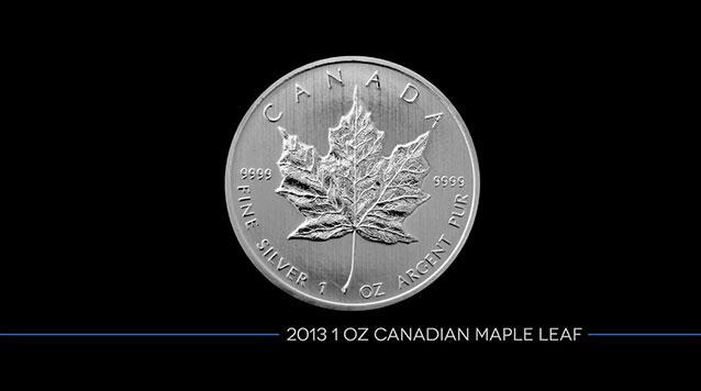 2013 1 Oz Canadian Silver Maple Leaf
