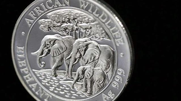 2013 1 oz Silver Somalian Elephant