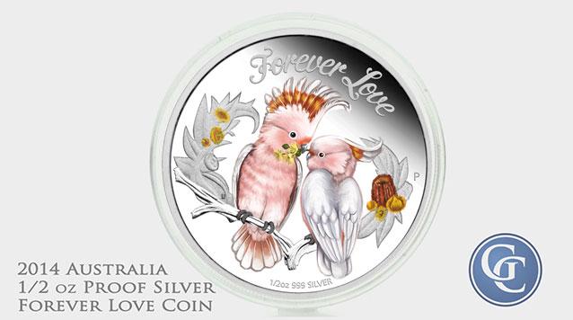 2014 Australia 1/2 oz Proof Silver Forever Love Coin