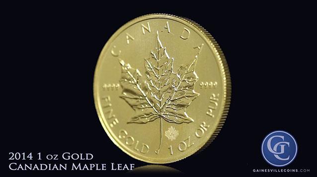 2014 1 oz Gold Canadian Maple Leaf