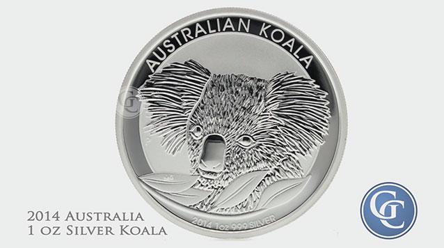 2014 Australia 1 oz Silver Koala