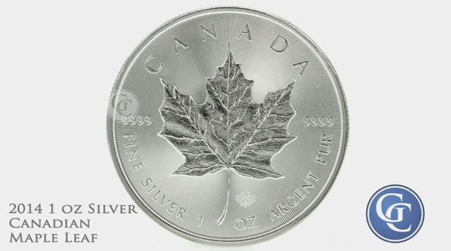 2014 1 oz Canadian Silver Maple Leaf
